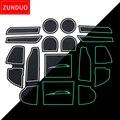 Коврики ZUNDUO для Subaru IMPREZA 2018 2019  Противоскользящие коврики для внутренней двери автомобиля  подстаканники  красные и белые