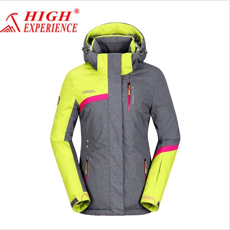 Prix pour 2017 Nouvelle Marque Neige Veste En Plein Air Femmes Thermique Manteau Randonnée Camping Cyclisme Veste Imperméable respirant Hiver Ski veste