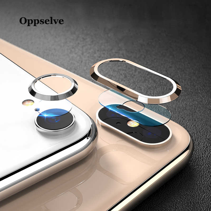 Ultra Tempered Glass+Metal Rear Lens Protective Ring For iPhone X Xs Max Xr IX 8 7 Plus Transparent Clear Glass Film For iPhoneX