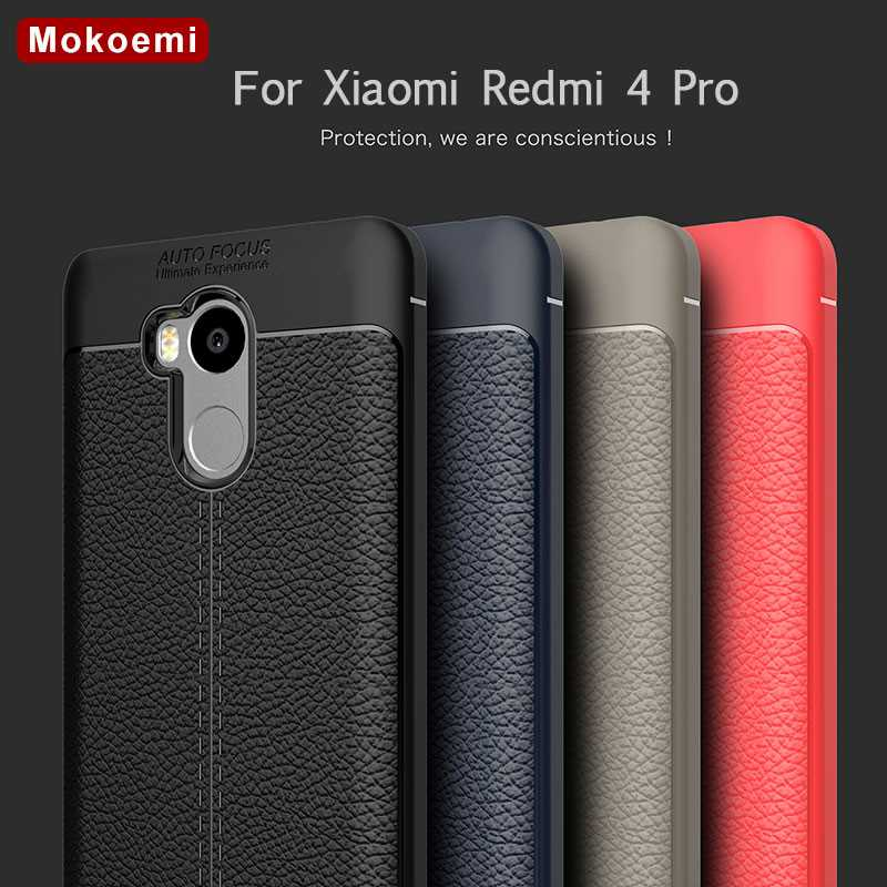 "Mokoemi Fashion Lichee Pattern Shock Proof Soft 5.0""For Xiaomi Redmi 4 Pro Case For Xiaomi Redmi 4 Pro Phone Case Cover"