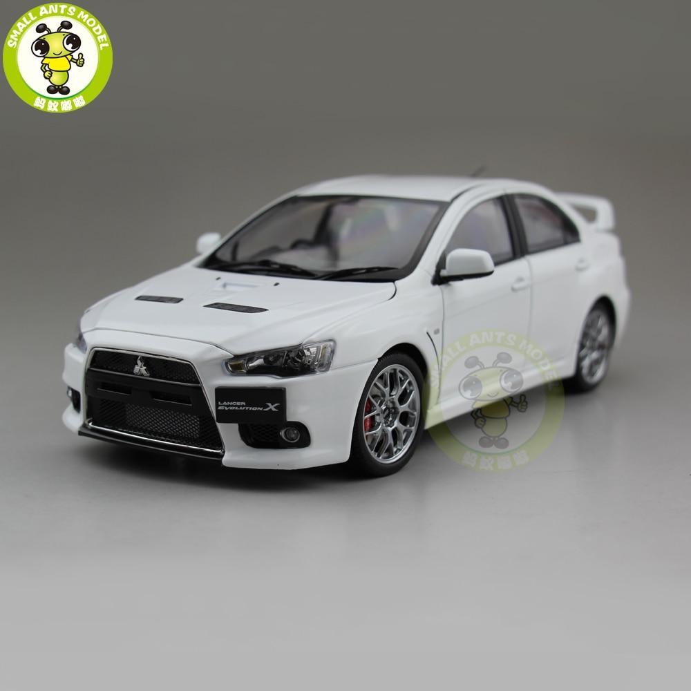 1/18 Mitsubishi Lancer EVO X 10 EVO-X Right Steering Wheel Metal Diecast Car Model Toy Girl Boy Gift White Color