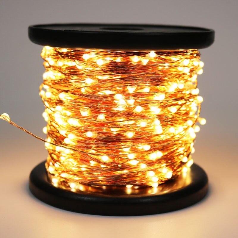 100 M 100 0 Led-leuchten Dekoration Kupfer Draht String Licht Outdoor Wasserdicht Fairy Lichter girlande Für Garten Hochzeit Weihnachten