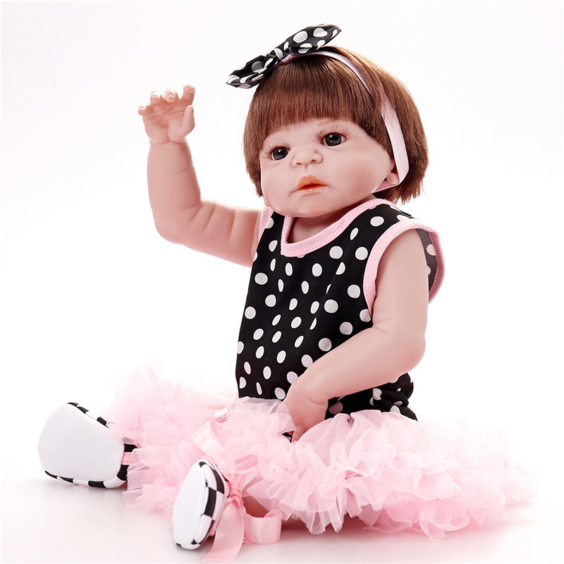 Reborn Babies Silicone Full Silicone Body Reborn Baby Girl Doll Bebe Girl Reborn SF5509 Birthday Gift for Kids American Girl Dol 16 inch silicone reborn babies reborn doll cute full silicone baby doll for children girl birthday gift
