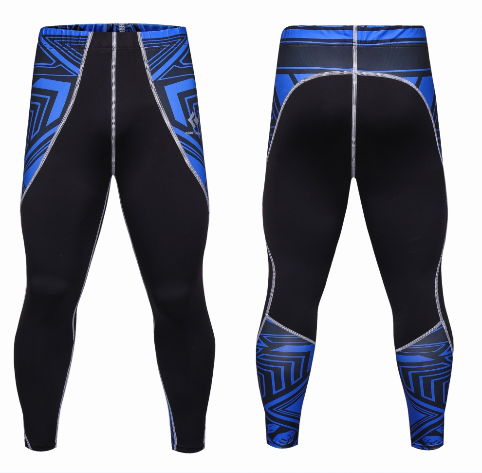 Casual Mens compression pants jogger tights stretch long pants bodybuilding exercise breathable fitness skinny leggings trousers