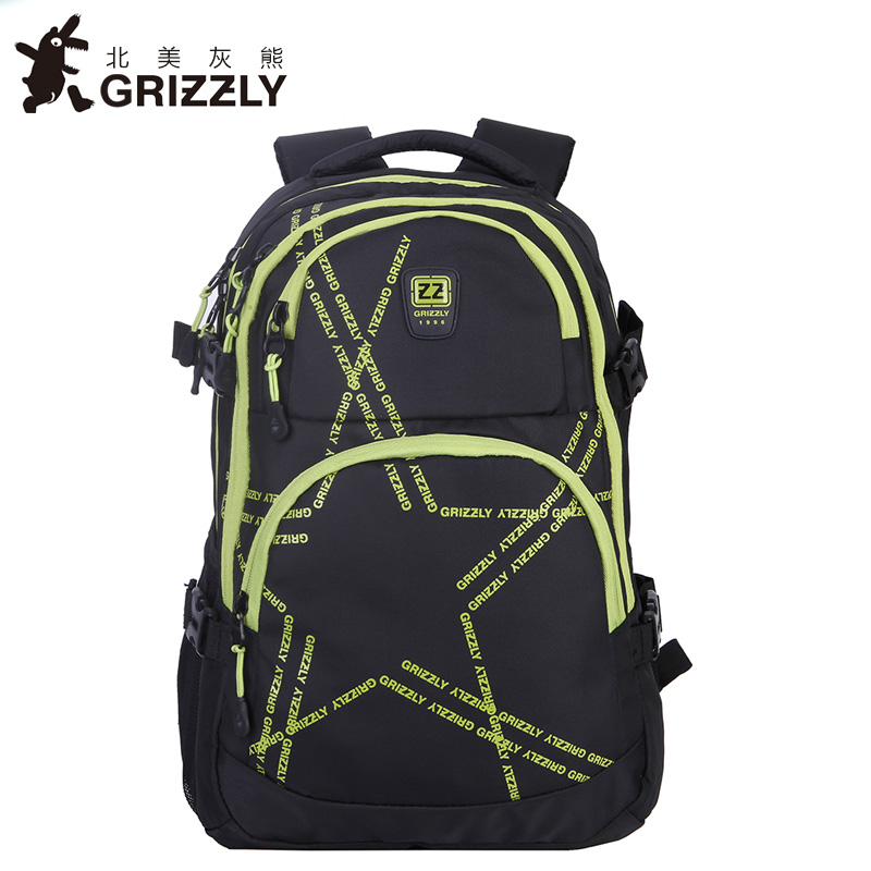 GRIZZLY Fashion Men Nylon Backpacks Casual Mochila Waterproof School Bags Multifunction Travel Bags for Teenager Boys grizzly new laptop backpack men for teenager boys fashion large capacity mochila multifunction travel bags waterproof school bag