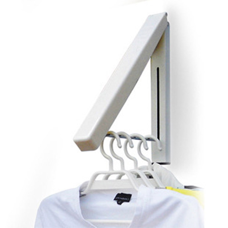 High Quality Foldable Drying Rack Waterproof Clothes Towel Rack Stainless Steel Wall Retractable Indoor Clothes Hanger