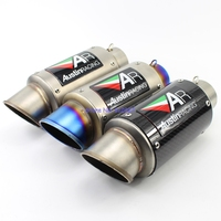 Universal Inlet 60mm Motorcycle Exhaust Muffler Carbon Fiber and Stainless Steel AR Motorbike Muffler Exhaust End Pipe Escape