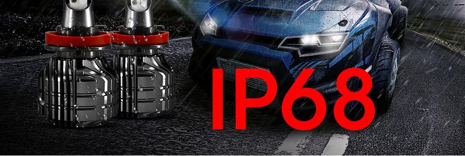 HLXG 2Pcs 9000LM H4 led 4300K Yellowish CSP Chips H11 H8 LED H7 H1 H3 52W 9000LMset 9005 HB3 9006 HB4 Bulbs Car Headlight 6000K (18)