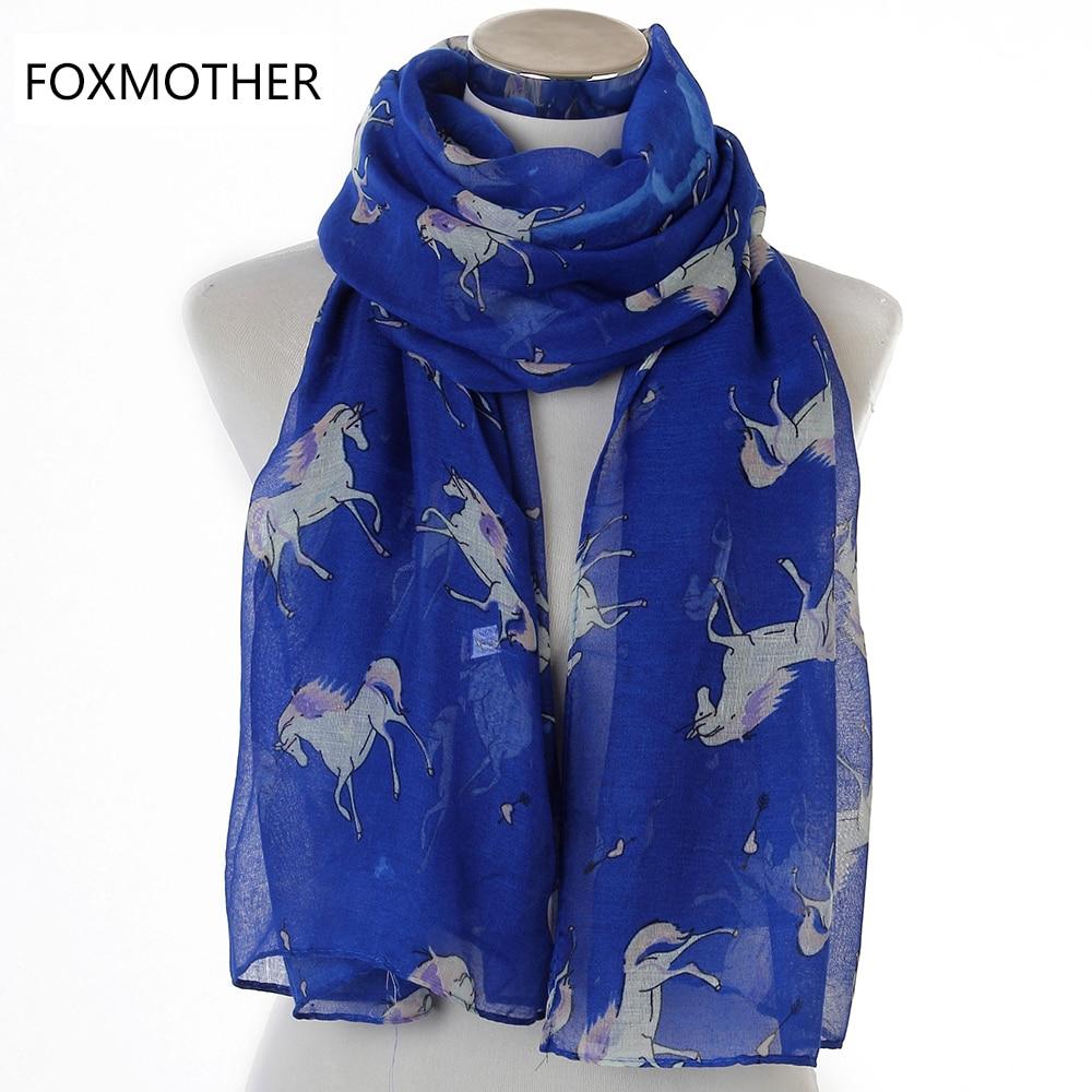 FOXMOTHER 2018 Nuevas bufandas ligeras de moda Soft Horse Infinity - Accesorios para la ropa - foto 6