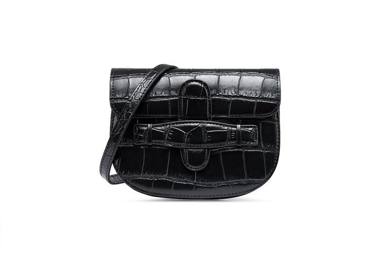 2019 fashion split leather mini crocodile pattern waist pack belt bag 2019 fashion split leather mini crocodile pattern waist pack belt bag