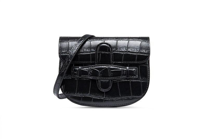 2019 mode split cuir mini crocodile modèle taille pack sac de ceinture-in Sacs bananes from Baggages et sacs    1