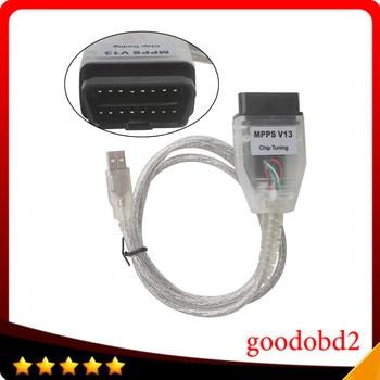 цена на For Citroen SMPS MPPS V13.02 V13 K CAN Flasher Chip Tuning ECU Programmer Remap OBD2 MPPS V13.02 Professional Diagnostic Cable