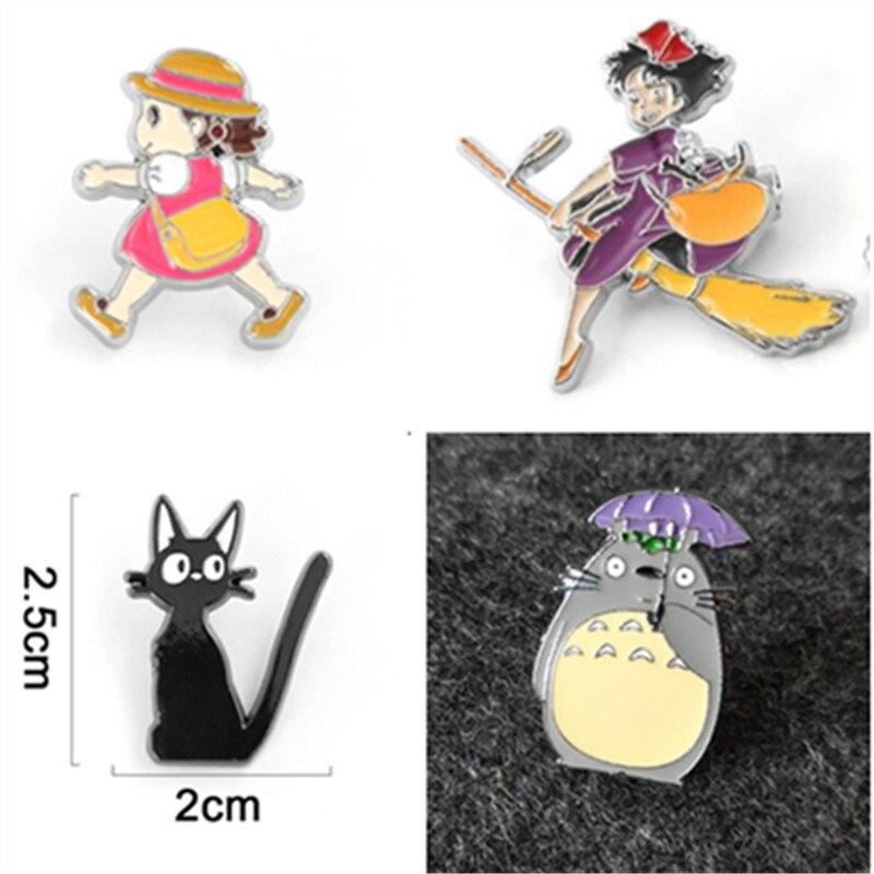 Hot New Japan Anime Miyazaki Hayao Totoro Badge Kiki's Delivery Service Cosplay Accessories Syaomei Badge Metal Brooch Girl Gift
