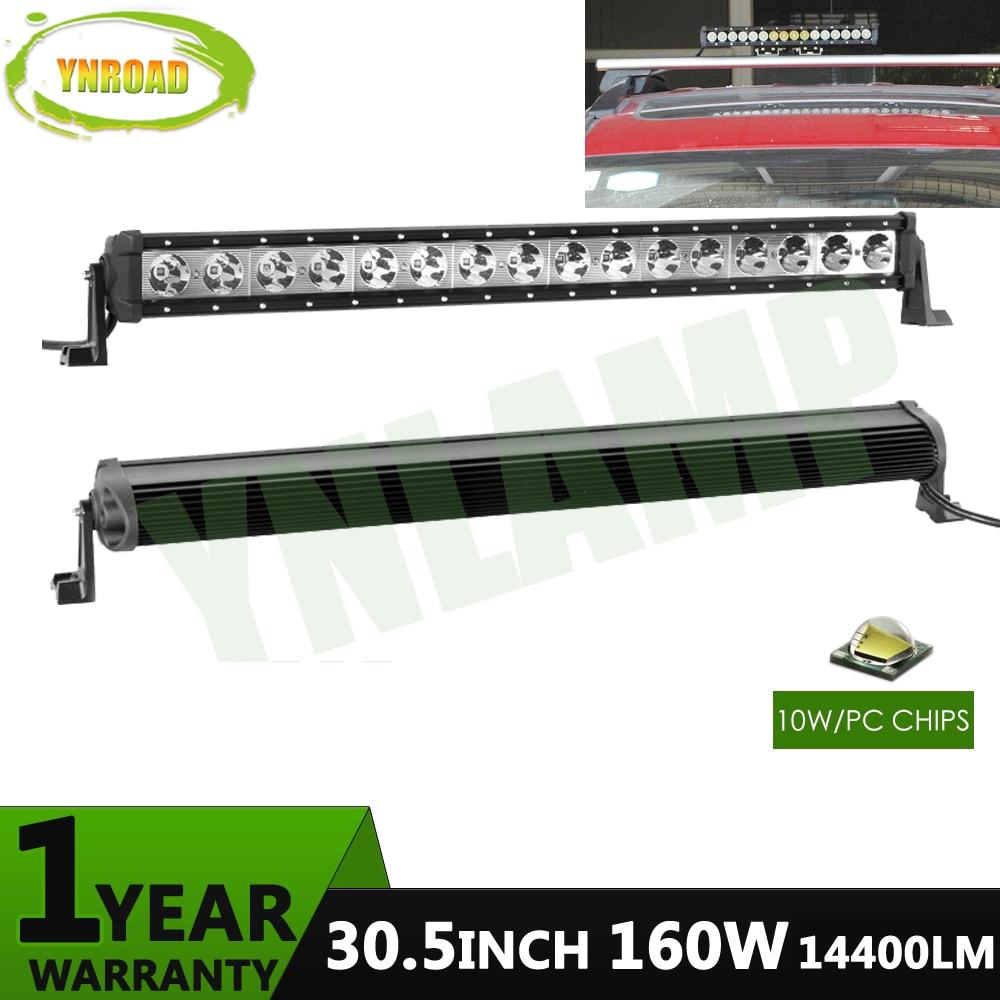 YNROAD 160w 30,5 palcový jednoradový LED světelný sloupek pracovní světlo Řízení Offroad Light Spot / povodeň / combo 10V- 30V pro ATV SUV IP67