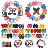 2014 New Hot Sale Baby Moccasins Soft Genuine Leather Baby Shoes 8 Color Can Choose Free
