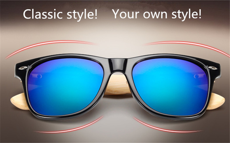 Bamboo Sunglasses Men Women Travel Goggles Sun Glasses Vintage Wooden Leg Eyeglasses Fashion Brand Design Sunglasses Male Female 11