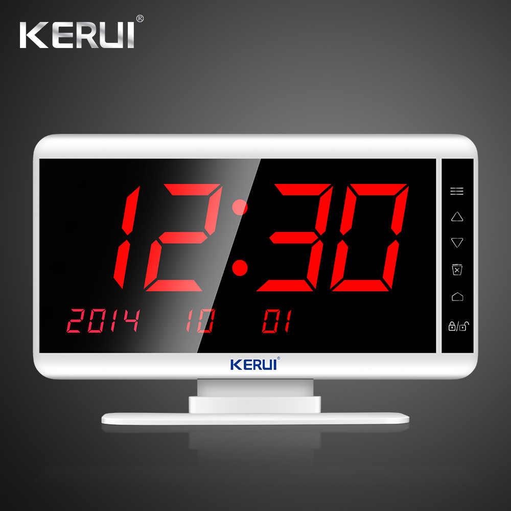 KERUI KR-C166 Elegante Branco Preto Relógio Banco Hospital Pager Sistema de Chamada Sem Fio Garçom Sistema de Chamada Restaurante Do Hotel