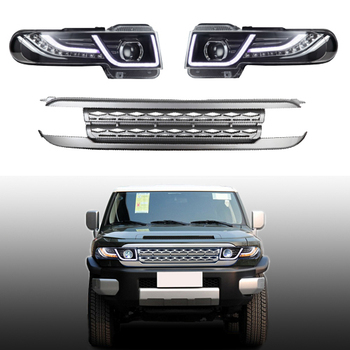Free Shipping For Land Rover Style Headlight Assembly For Toyota FJ Cruiser Plug & Play