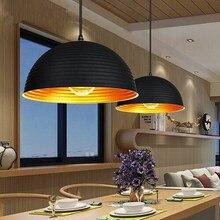 Lámpara colgante Vintage de Metal semicírculo para Loft, lámpara colgante para comedor, Bar, café, cocina, accesorio de iluminación para interior, lámpara colgante