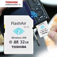 TOSHIBA Flash Air W 03 Memory Card 32GB 16GB Wifi SD Card Class 10 Wireless SDHC