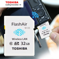 TOSHIBA Flash Air W 03 Memory Card 32GB 16GB Wifi SD Card Class 10 Wireless SDHC