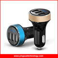 New Arrival Portable Light Weight 3 Charging Port 3.1A Car USB Charger With Screen Display for all Mobile Phones GPS