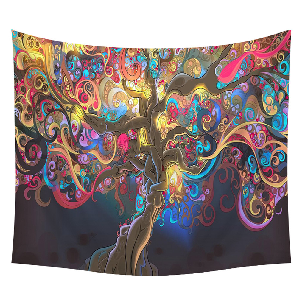 Image 2 - Home Decor Wall Tapestry Hanging Tapestry Simple Creative Printing Home Creative Wall Hanging Wall Decoration Dropshipping-in Tapestry from Home & Garden
