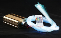 Optic fiber light kit 25w led light source+end glow optical fiber color change stars for bar room museum movie theater lighting