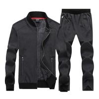 7XL 8XL Big Size Sport Suits Men Sportswear Sets Warm Gym Clothes Fleece Fabric Male Winter