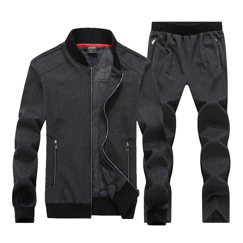 7XL 8XL Big Size Tuta Sportiva Uomini Sportswear Set Caldo Abbigliamento da palestra Tessuto Pile Maschio Inverno Tuta Da Corsa Jogging Suit Mens