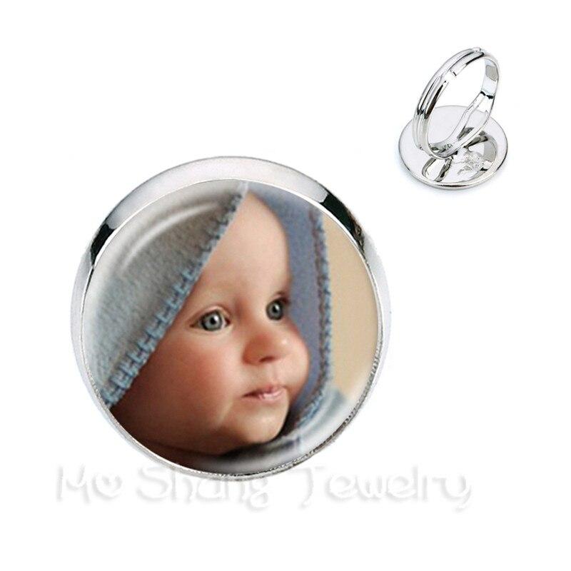 Кольца На заказ с фотографией мамы, папы, ребенка, дедушки, родителей, индивидуальный дизайн, фото Подарок на годовщину семьи