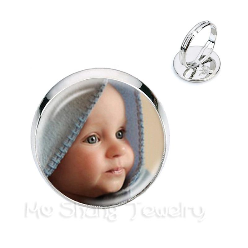 Personalized Custom Rings Photo Mum Dad Baby Children Grandpa Parents Customized Designed Photo Gift For Family Anniversary Gift