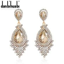 Fashion Luxury Vintage Earring Retro Jewelry Brand Bohemian Big Drop Earrings For Women Crystal Rhinestone Brincos Wholesale Hot