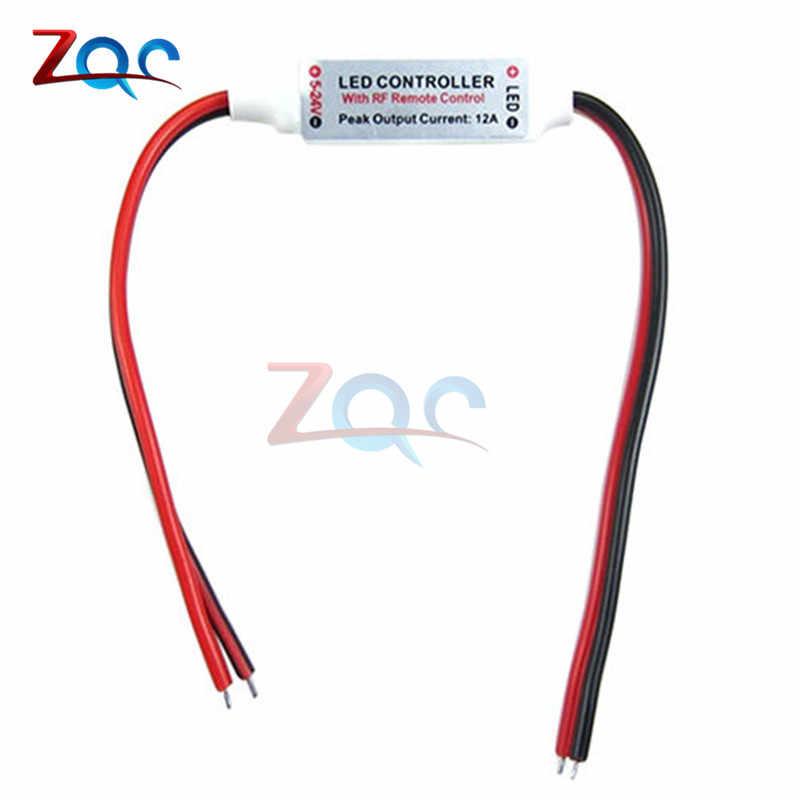12V RF kablosuz uzaktan kumandalı anahtar kontrol Dimmer uzaktan kumanda Dimmer Mini In-line için 3528 2835 5050 LED şerit ışık
