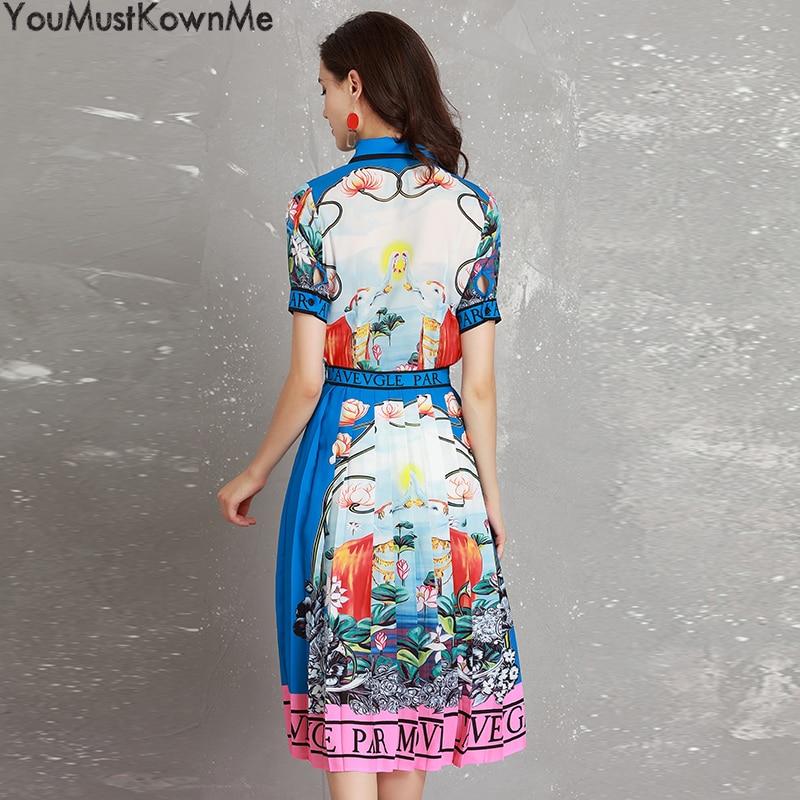 Pour À Et Les Pièce Blouses Manches Color Courtes Costumes Ensemble Tenues Plissée Femme 2018 Youmustknowme 2 Chemises Jupe D'été Femmes Vintage Imprimer aUxAnH7
