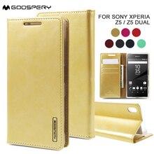 Mercury Чехол для Sony Xperia Z5 случае Z5 Двойной Бумажник Кожа PU Стенд чехол для Sony Xperia Z5 двойной крышки телефон Coque флип принципиально