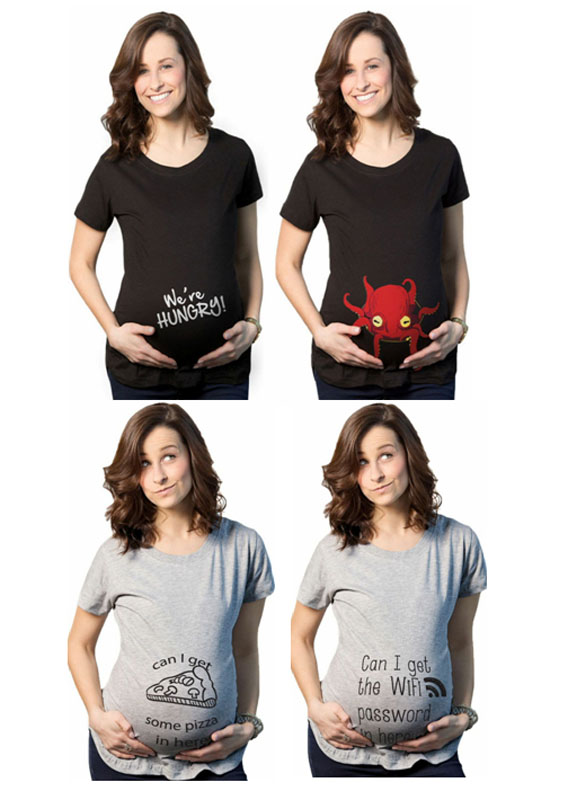 Pregnancy Clothes New Funny Maternity Short Sleeve T Shirt Fashion Tees for Pregnant Women