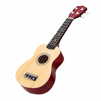 プロフェッショナル21インチ木製ソプラノウクレレウクレレウクレールハワイアンウッド楽器4弦小さなギターミニギターギターインドの楽器