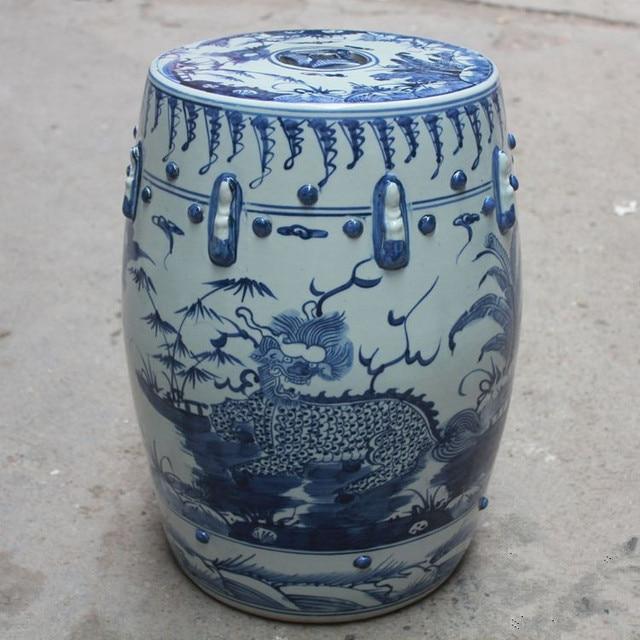 Porcelain Chinese Garden Stools Ceramic Toilet Stool Jingdezhen