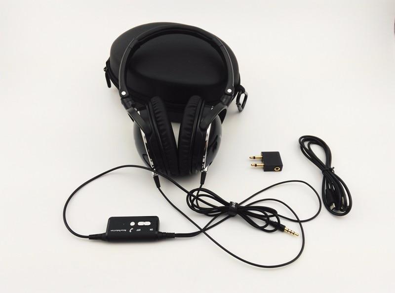 החדש אוזניות ביטול רעש פעיל עם מיקרופון מתקפל מעל האוזן HiFi בידוד רעשים אוזניות Netsky אוזניות Auriculares