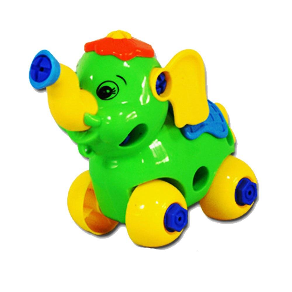 HIINST Best seller  Christmas Gift Disassembly Elephant Car Design Educational toys for children for your lovely dear J26M30