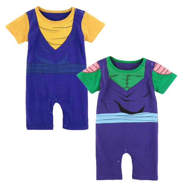 65642f7bbea23 Newborn Baby Boy Vegetto and Piccolo Dragon Ball Z Costume Romper 2PCS Set  Infant Party Playsuit