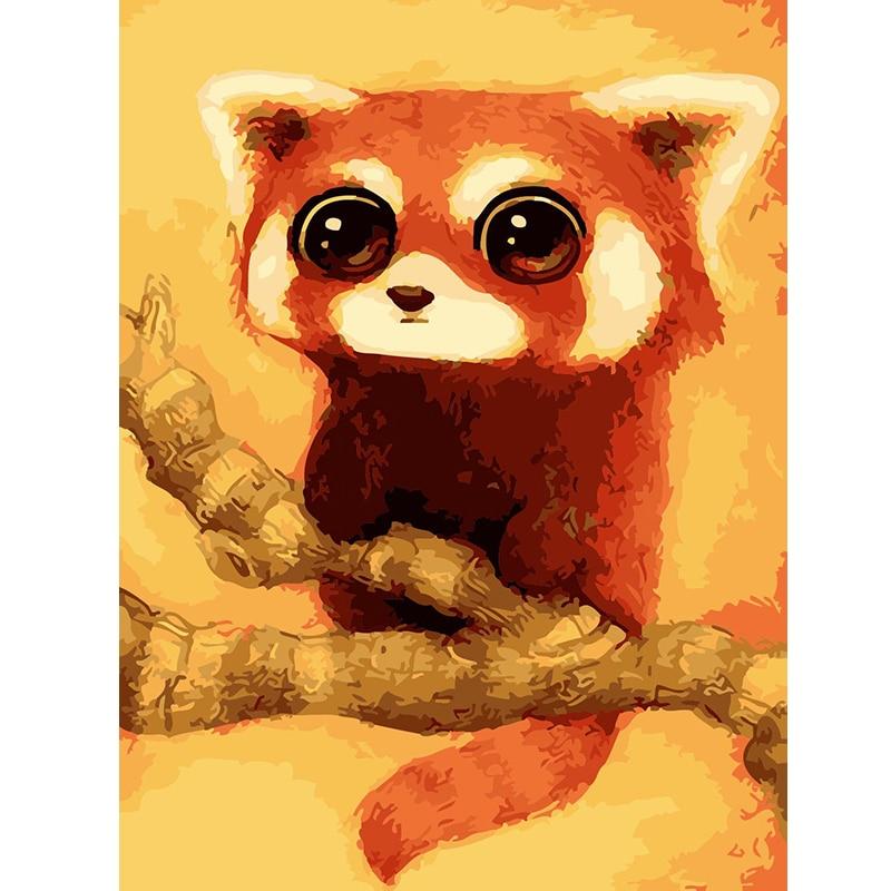 Ev Ve Bahce Ten Resim Ve Hat De Cercevesiz Hayvan Kucuk Panda