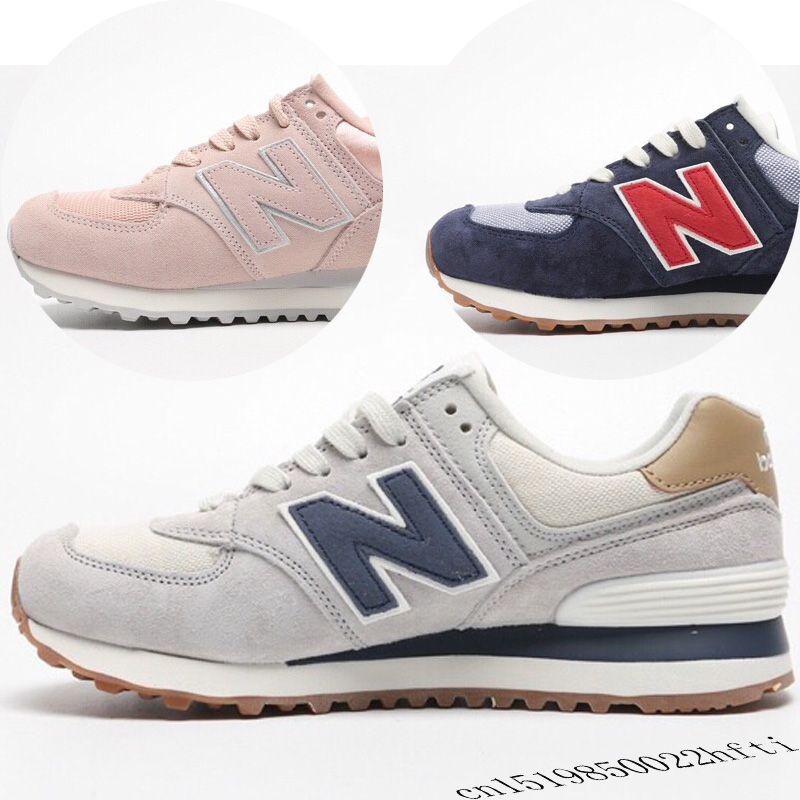 2019 Hot Sale NEW BALANCE High Quality NB574 women's/Men's Running Shoes Eur40 48 Spring New Badminton Shoes