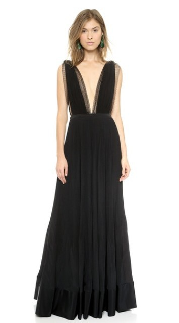 free shipping vestido de festa black long v neck robe de soiree 2018 new fashion sexy backless formal evening dresses women in Evening Dresses from Weddings Events