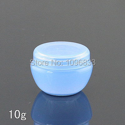 10g Blue Jar 10g Plastic Jar Cream Box Cosmetic Cream Jar Empty Cosmetic Container Packing Cosmetic