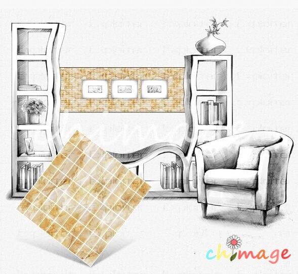 DIY 3D Self Adhesive Mosaic Tile Wall Sticker Kitchen Bathroom Backsplash Home Decor Foil Wallpaper C