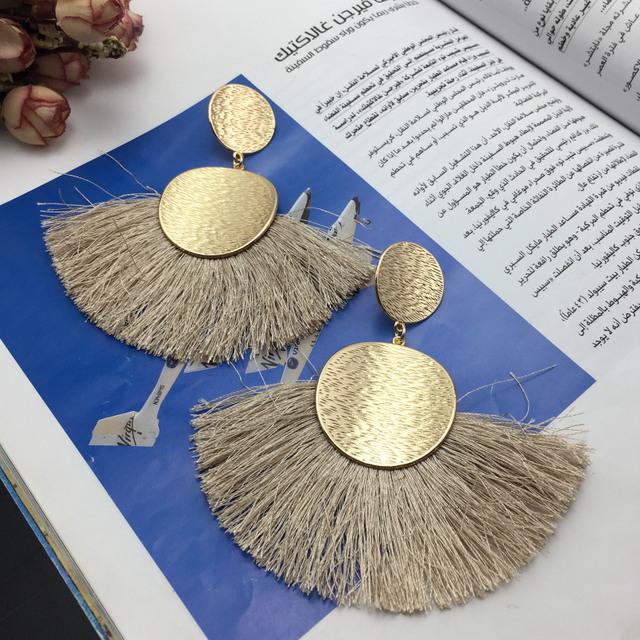 Bohemian Hi Alloy Tassels Earrings