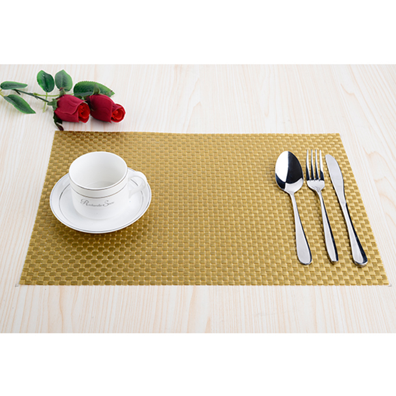 Pvc Decorative Weave Vinyl Placemats For Dining Table