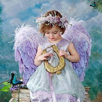 5D DIY Handmade Square Diamond Embroidery Painting Angel Girl Mosaic Picture Cross Stitch Needlework For Home